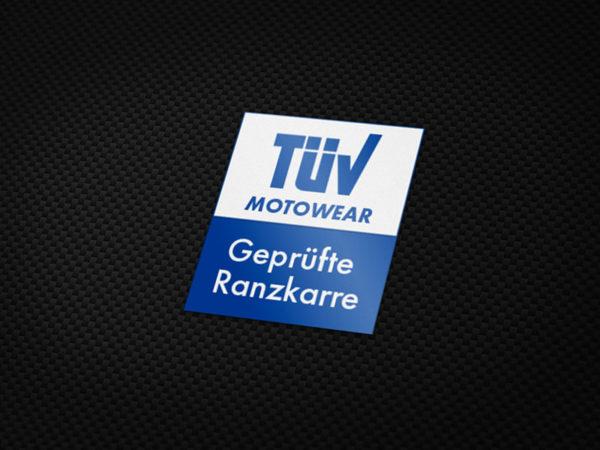 TÜV geprüfte Ranzkarre Aufkleber von MotoWear Germany