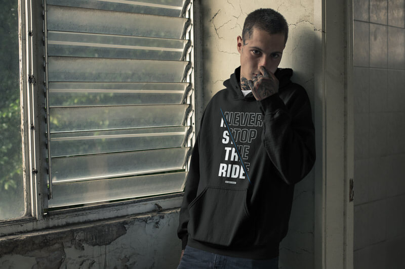 Never stop the ride Hoodie