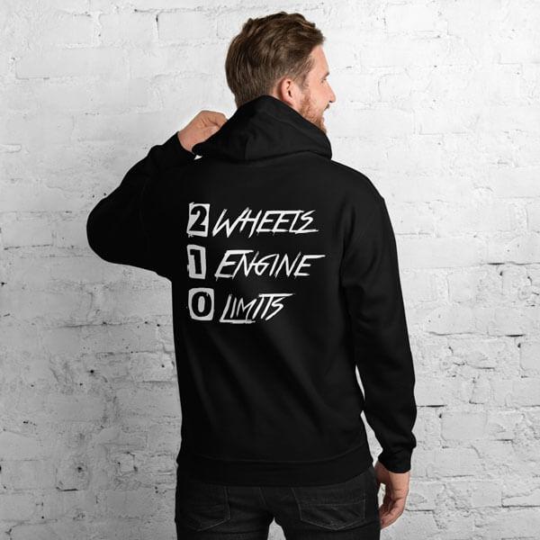2Wheels 1Engine 0Limits Hoodie von MotoWear Germany