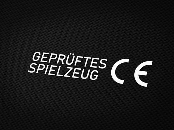 CE geprüftes Spielzeug Aufkleber von MotoWear Germany