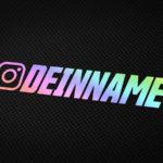 Instagram Holo Aufkleber von MotoWear Germany