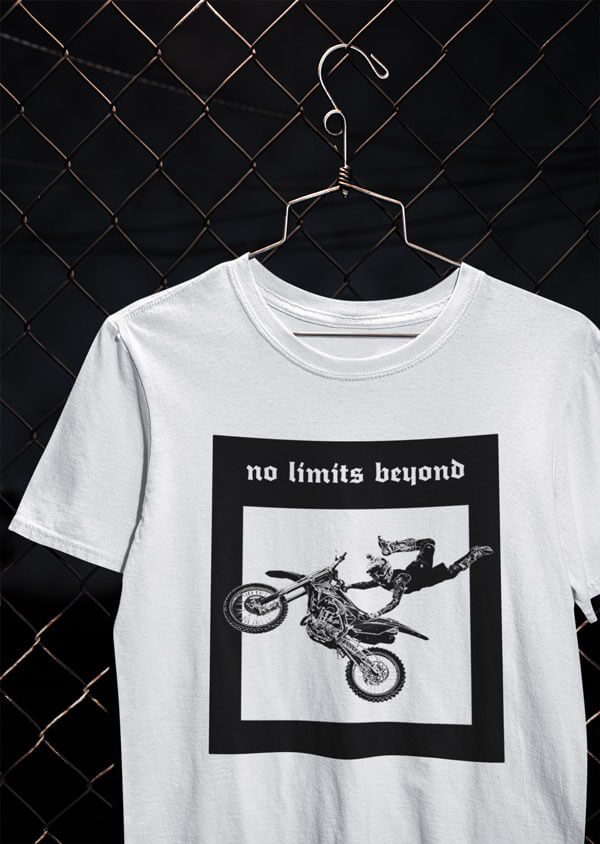 no limits beyond tee von MotoWear Germany
