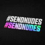 #SENDNUDES Aufkleber von MotoWear Germany