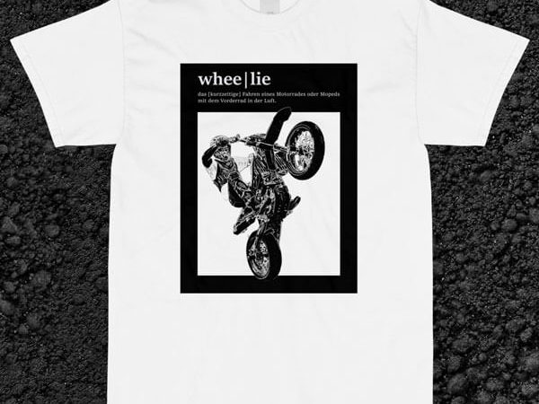 Wheelie definition tee von MotoWear Germany